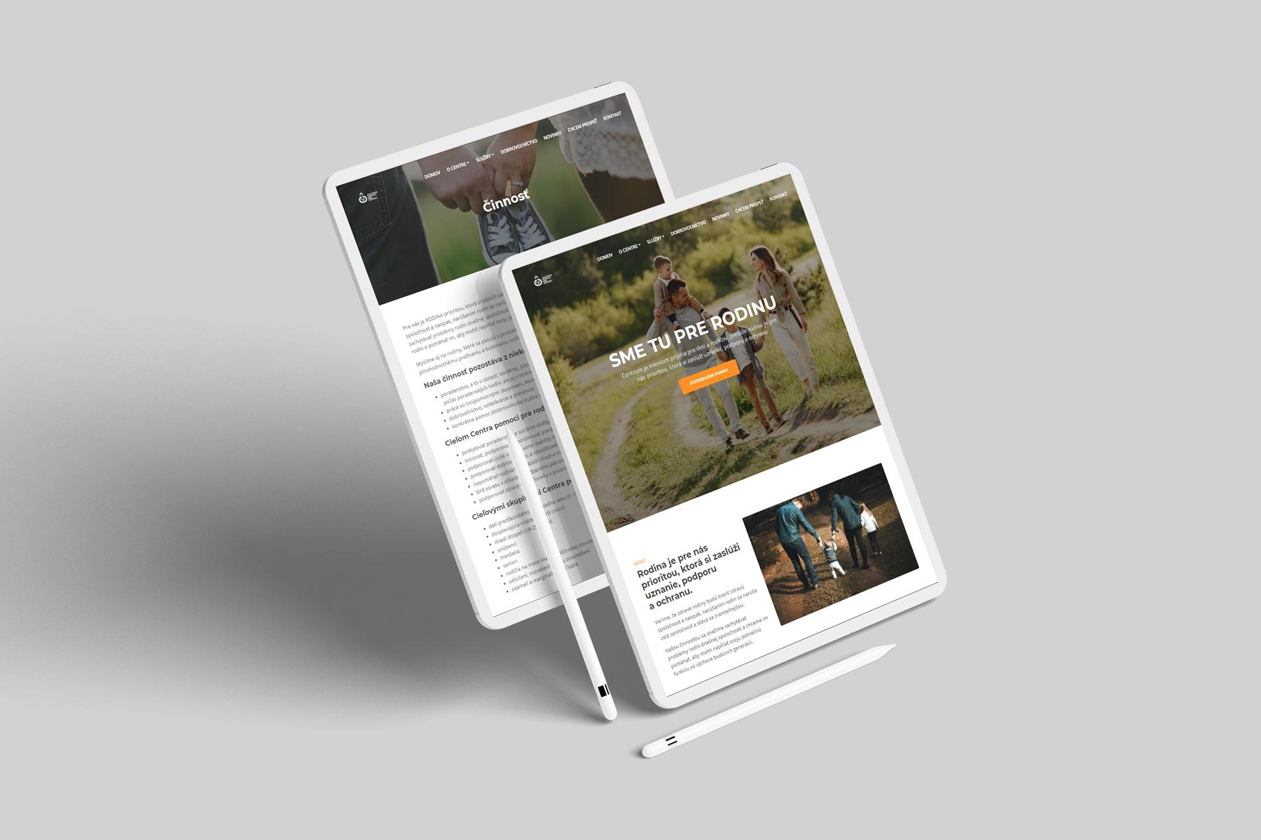 Centrum pomoci pre rodinu - web